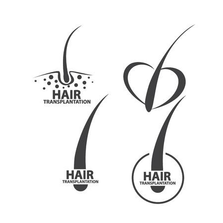 hair follicle treatment design Ilustracja