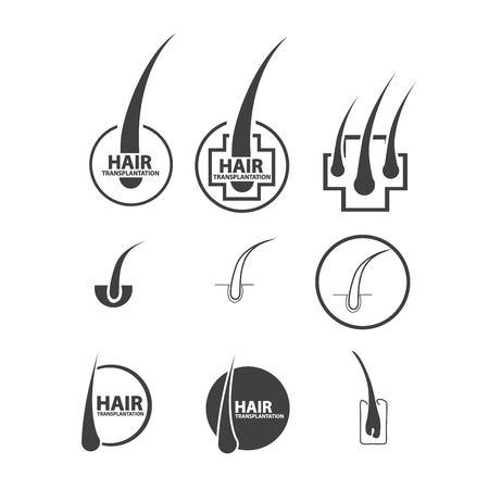 hair follicle treatment design  イラスト・ベクター素材