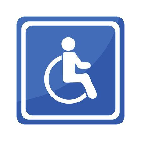 Disabled Handicap Icon . Invalid symbol