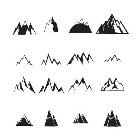 Ensemble d'icônes de montagne.
