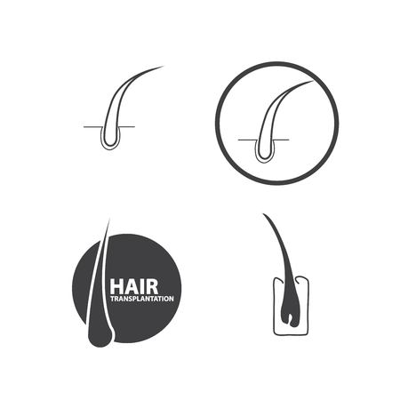 hair follicle treatment design Vectores