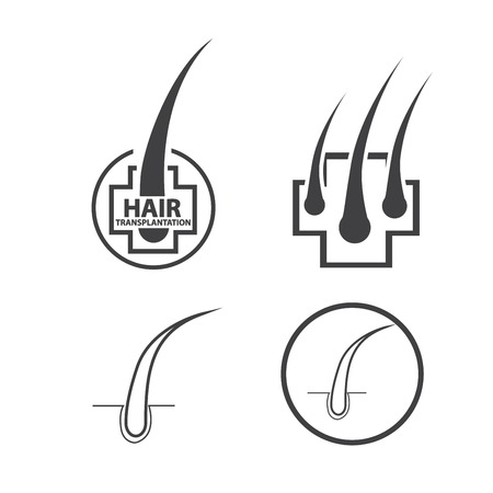 hair follicle treatment design Stock Vector - 122537794