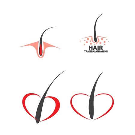 hair follicle treatment design Stock Vector - 122538017