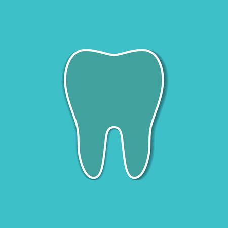 Tooth icon in flat style Vetores
