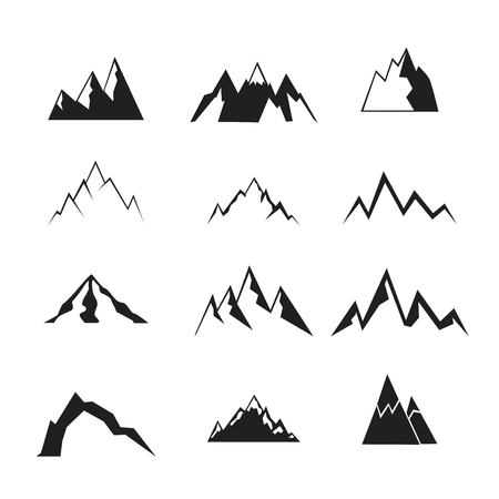 Mountain icons set.