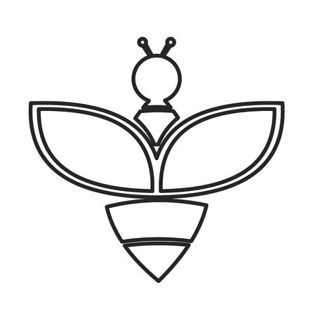 Bee icon. Vector concept illustration for design. 矢量图像