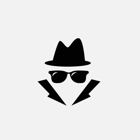 detective icon isolated on white background
