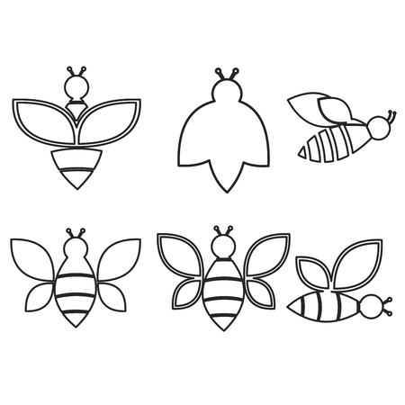 Set of honey emblems and design elements. Ilustração
