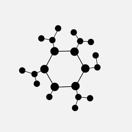 Molekülsymbol isoliert auf weißem Hintergrund
