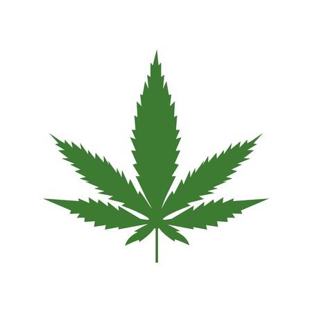 Marijuana or cannabis vector leaf isolated on white background