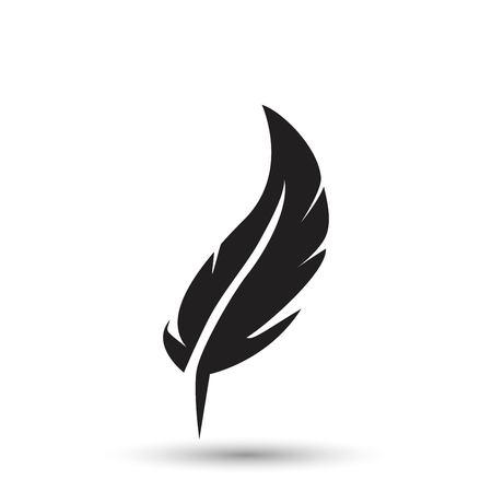 Icône de plume isolé sur fond blanc