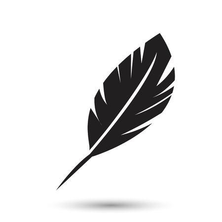 Icono de pluma aislado sobre fondo blanco