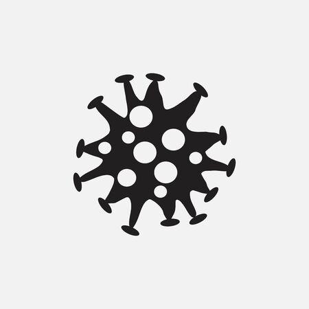 Coronavirus is a contagious bacterium on a white background. The strain of coronavirus 矢量图像