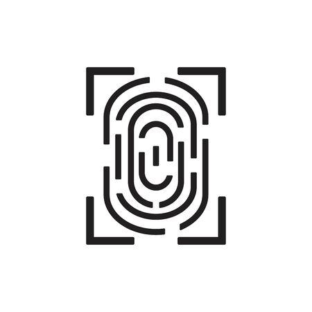 Fingerprint line design vector illustration.