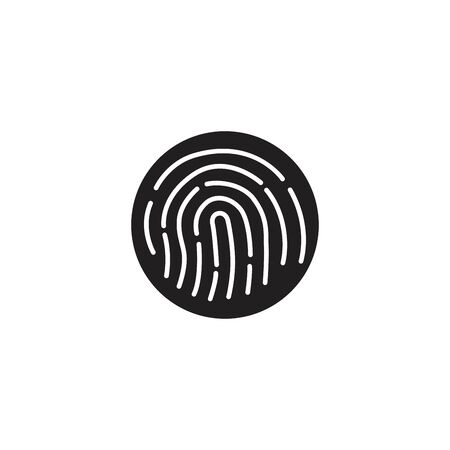 Fingerprint line design vector illustration. 免版税图像 - 139932382