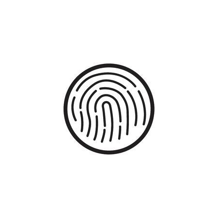 Fingerprint line design vector illustration. 免版税图像 - 139932781