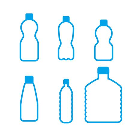 vector water plastic bottles set . flat style isolated on white background 矢量图像