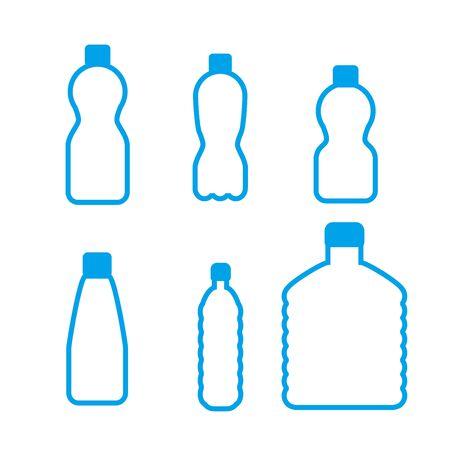 vector water plastic bottles set . flat style isolated on white background 免版税图像 - 139934174