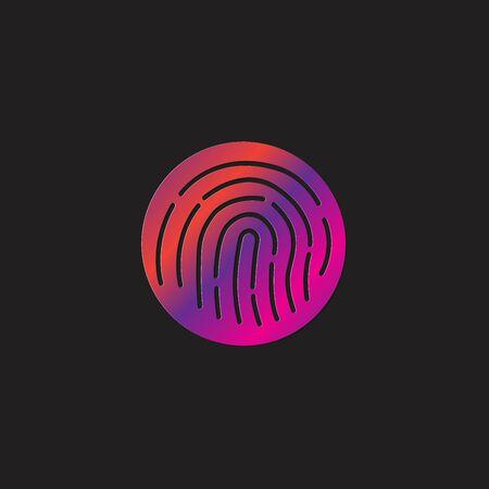 Abstract vector fingerprint icon