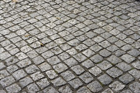 cobblestone road: Close-up of cobblestone road
