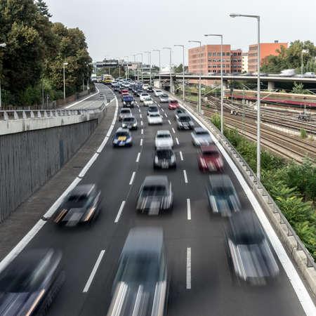 highway near a sbahn Standard-Bild