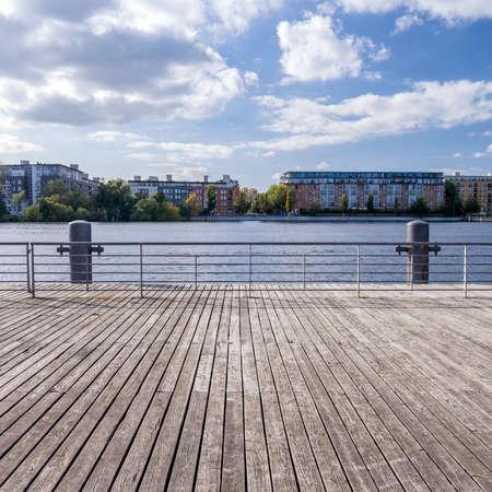 spandau: boardwalk at the havel in berlin