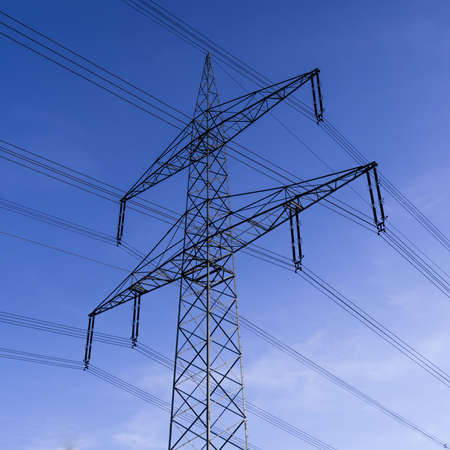 electricity providers: electrical tower Stock Photo