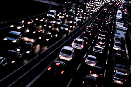 closing time: cars on a highway Stock Photo