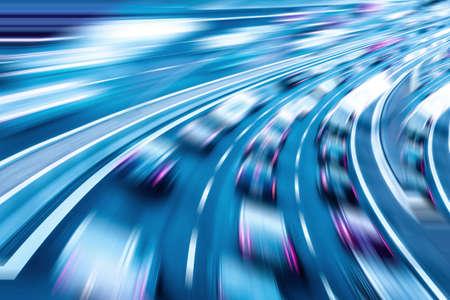 Autorennen, Datenübertragung, Datengeschwindigkeit, Datenverkehr Lizenzfreie Bilder