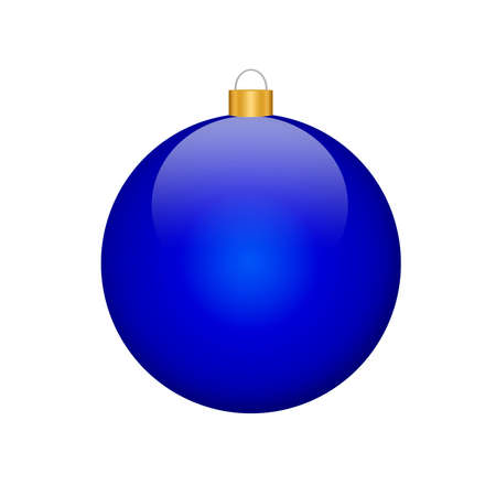 christmassy: a blue christmas bulb (illustration, white background)