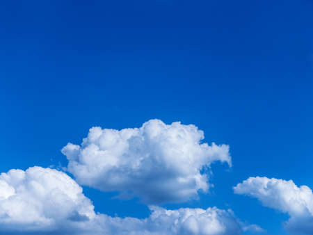 sky and clouds background (copyspace) photo