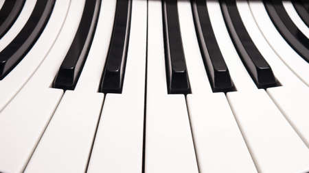 curved piano keys, abstract picture illustration Stock Photo