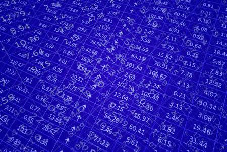 flood of information on stock market (screen) photo