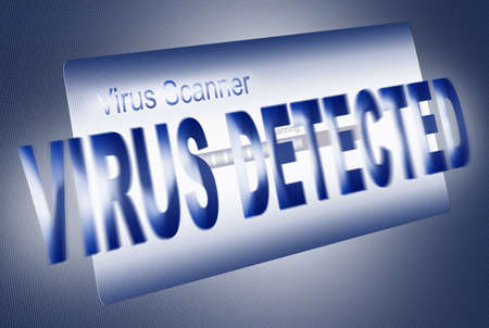 alarming: an�lisis de virus en la pantalla de led (ilustraci�n) Foto de archivo