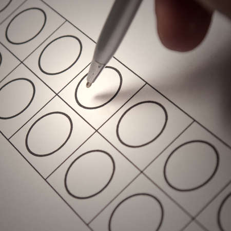 ballot papers: secret election, ballot papers, pen Stock Photo