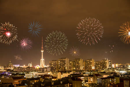 fireworks in berlin on new year