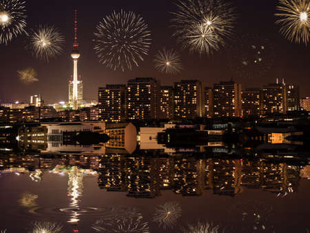 Neujahr Silvester in Berlin Standard-Bild - 23330584