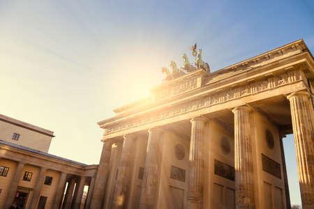 brandenburger tor: brandenburger tor with sunlight in berlin Stock Photo