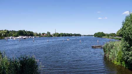 havel near werder  brandenburg  in summer