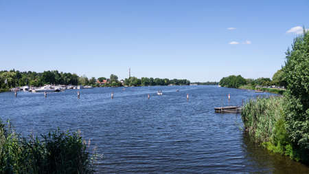 Havel perto Brandenburg werder no ver Banco de Imagens
