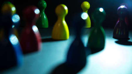 figures in different colors as social network Stock Photo - 24516998