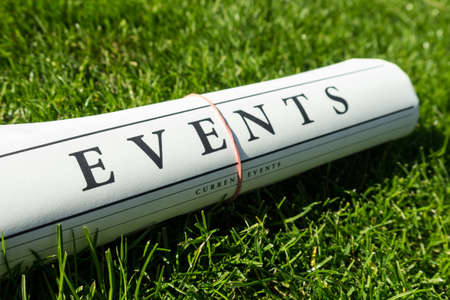 breaking news: event news on a green meadow