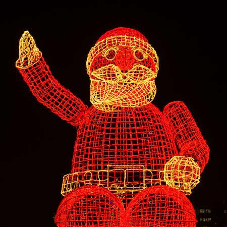 Papai Noel no kurfuerstendamm em Berlim Banco de Imagens