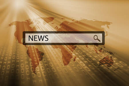 news written in search bar of a search engine