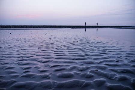 ondinhas na praia (Mar do Norte)