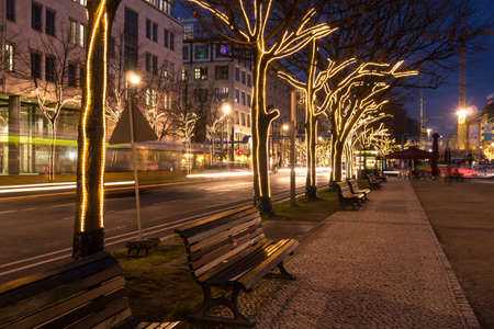 unter den linden and christmas decoration in berlin photo