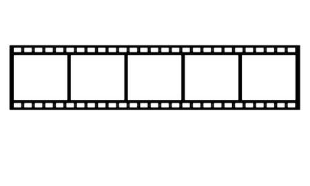 film strip on white background Banco de Imagens - 25747431