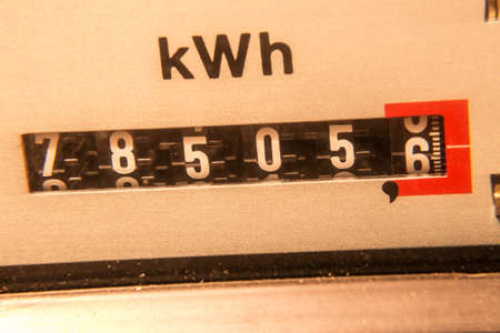 electricity meter: electricity meter background (kwh) Stock Photo