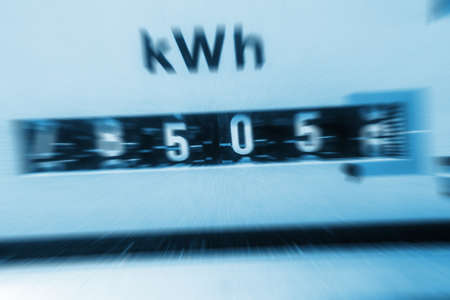 Increasing Electricity Meter : Electricity meter increasing costs stock photo picture and