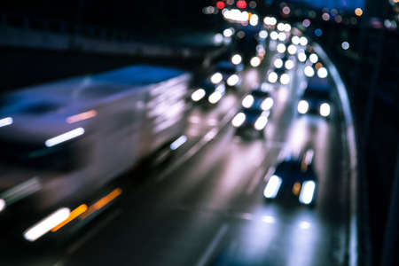 cars on a highway (bokeh effect)